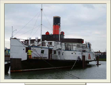 PS Lincoln Castle in Alexandra Dock, Grimsby